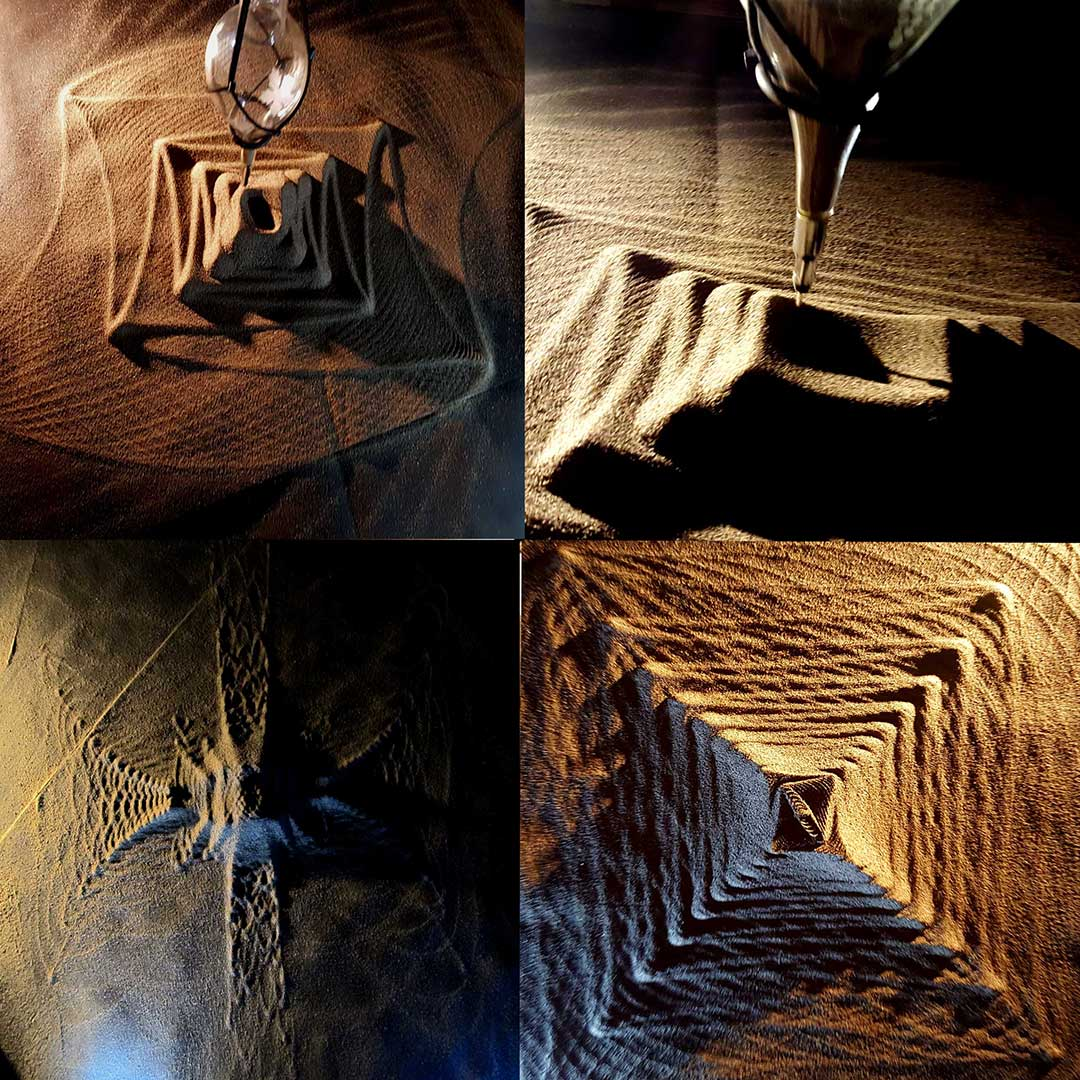 Four Images from the Sand Pendulum Project